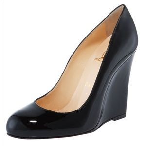 Christian Louboutain Ron Ron Patent Wedge Pump